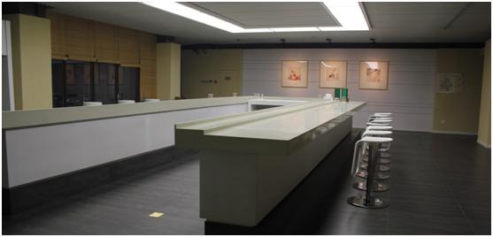 ブランド館は、展示板と実物との組み合わせで、水井坊の企業規模、文化経営理念、特色製品、および公益事業への関心と支持を見せている。