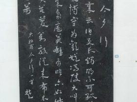 今夕行-杜甫千詩碑-浣花溪公園-成都杜甫草堂博物館-書:楚黙