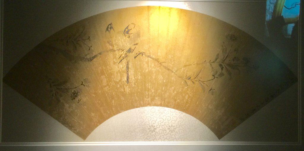 李因花鳥扇面-物色-明代女子の生活芸術展-四川博物院-成都市
