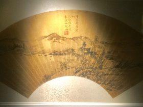 秦淮女友白墨筆山水扇面-物色-明代女子の生活芸術展-四川博物院