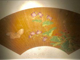 文俶花蝶図扇面-物色-明代女子の生活芸術展-四川博物院-成都市