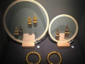 金葫蘆耳墜-金鑲寶葫蘆耳墜-金連珠鐲-物色-明代女子の生活芸術展-四川博物院-成都市