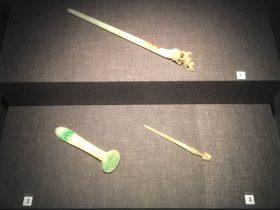 玉簪-翡翠簪-白玉簪-物色-明代女子の生活芸術展-四川博物院-成都市
