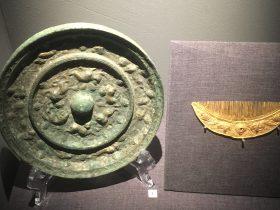 神獸葡萄紋銅鏡-牡丹紋金梳-物色-明代女子の生活芸術展-四川博物院-成都市