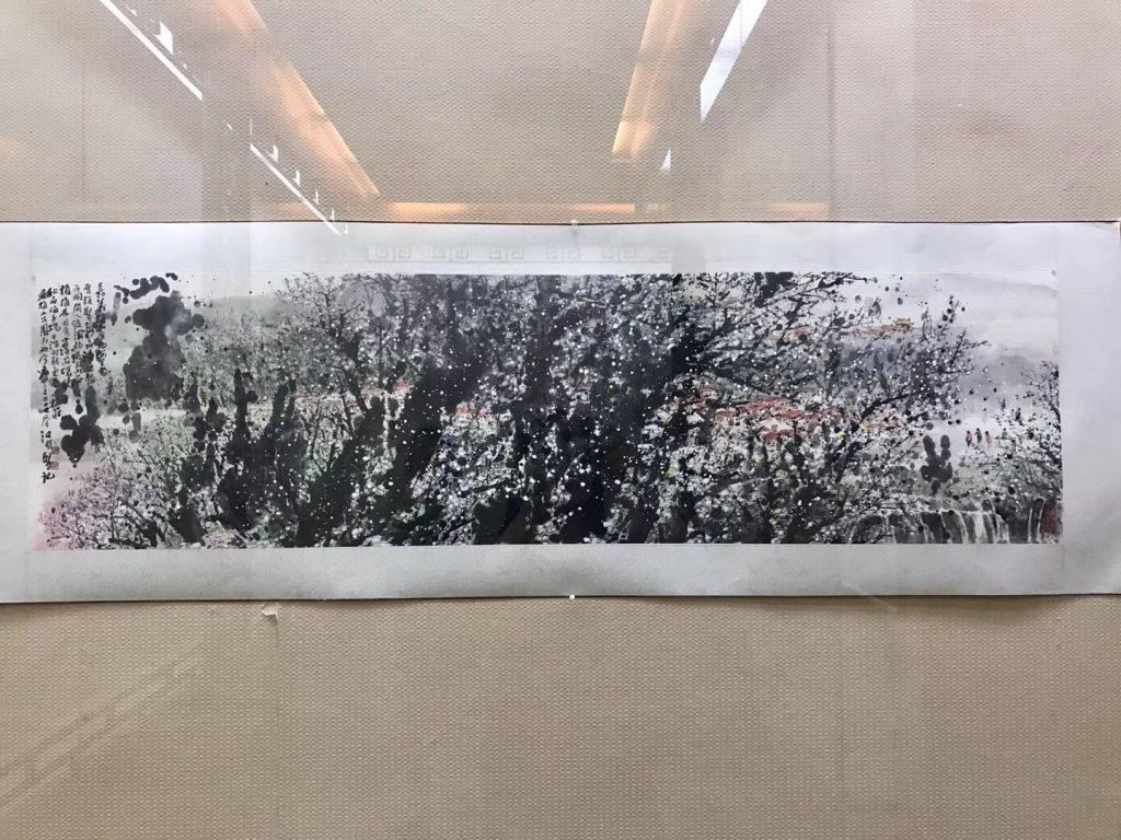 【巡回展】雲月八千里-江明賢墨彩-成都杜甫草堂-詩書画院美術館-撮影:何紅英