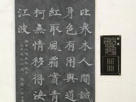 江頭五詠・梔子-杜甫千詩碑-浣花溪公園-成都杜甫草堂博物館-書:鄒濤