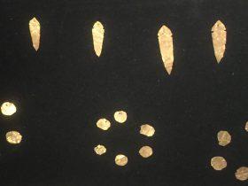 魚形金箔-圓形金箔-展示ホール3-天地は絶えず-金沙遺跡博物館-成都市