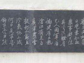 喜雨-杜甫千詩碑-浣花溪公園-成都杜甫草堂博物館-書:郎崗峰