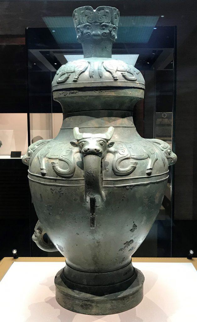 牛紋銅罍-竹瓦煙雲-巴蜀青銅器-青銅器館-四川博物院-成都市