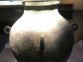四環紐虎紋銅罍-盛酒器-涪陵遺韻-巴蜀青銅器-青銅器館-四川博物院-成都市