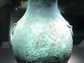 嵌錯雲水紋銅壺-盛酒器-涪陵遺韻-巴蜀青銅器-青銅器館-四川博物院-成都市