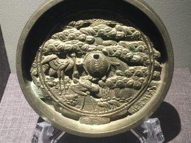 日本仙鶴松樹紋銅鏡-物色-明代女子の生活芸術展-四川博物院-成都市