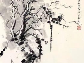 逢雪宿芙蓉山主人-唐 · 劉長卿-書・画:王英文-蘭里居士