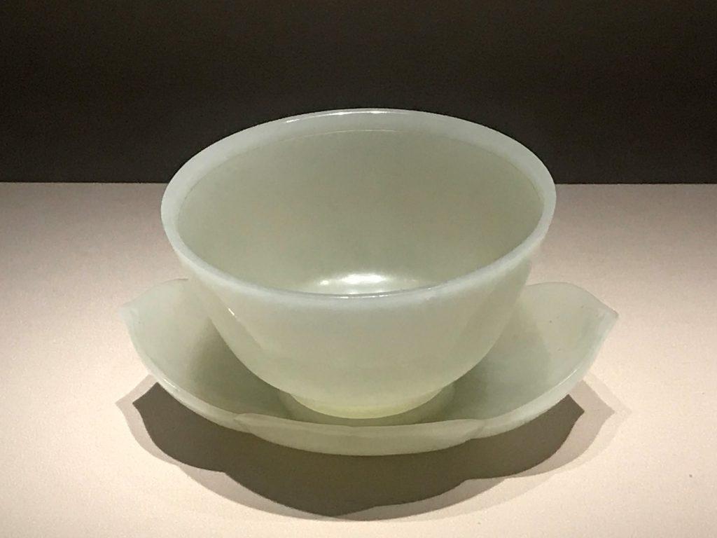 清乾隆-白玉海棠式托碗-崇敬殿-【重華宮へ入り】巡回展-成都博物館