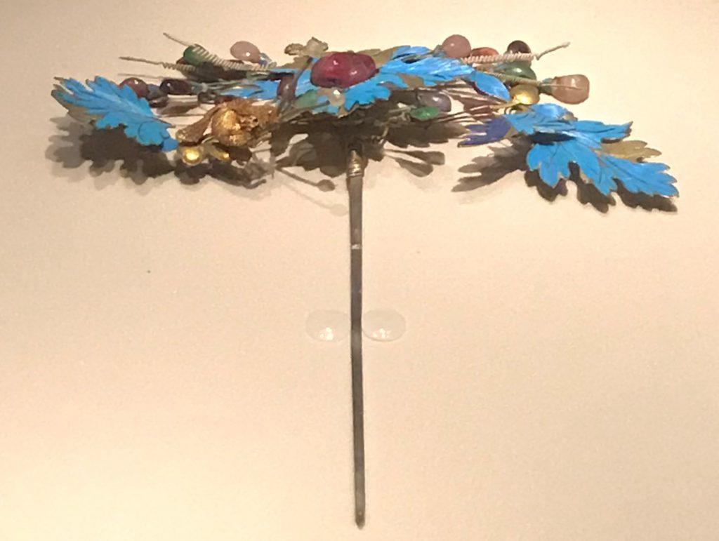 清・銀鍍金松鼠葡萄紋簪-重華宮-【重華宮へ入り】巡回展-成都博物館