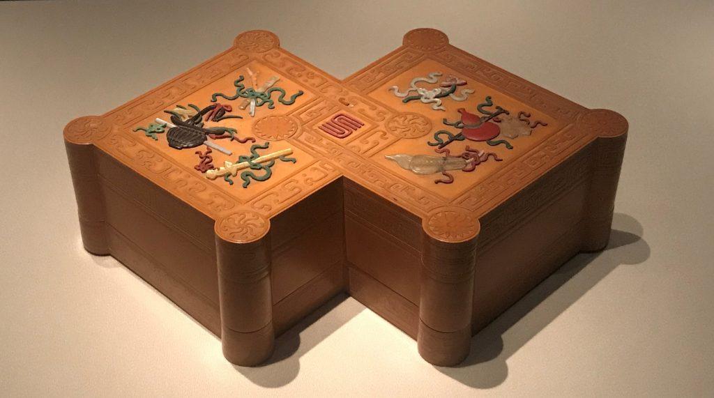 清・文竹方勝式盒-翠曇館-【重華宮へ入り】巡回展-成都博物館