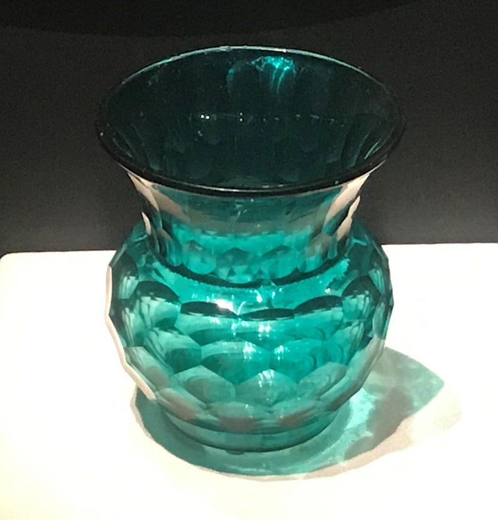 清乾隆・綠玻璃六角紋渣闘-漱芳齋-【重華宮へ入り】巡回展-成都博物館