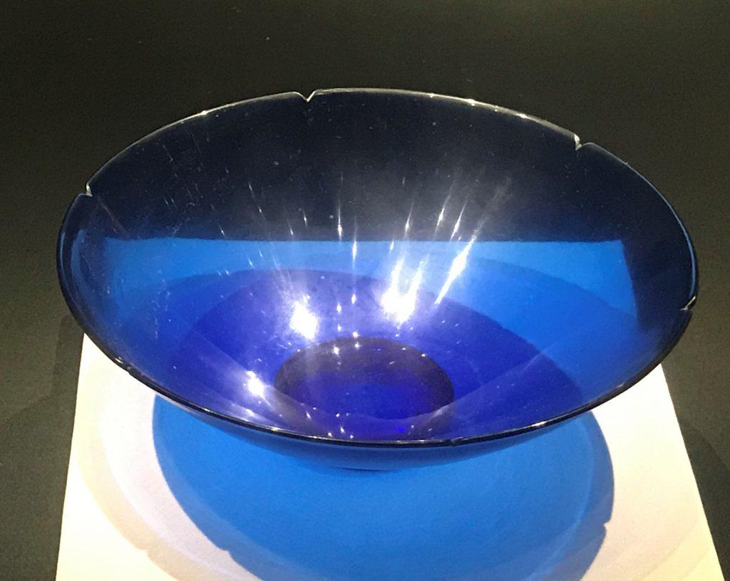 清乾隆・藍玻璃碗-漱芳齋-【重華宮へ入り】巡回展-成都博物館
