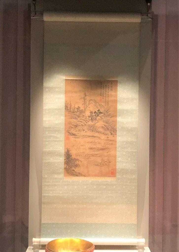 清乾隆・乾隆皇帝画【多祿図】軸-漱芳齋-【重華宮へ入り】巡回展-成都博物館-成都市-四川省