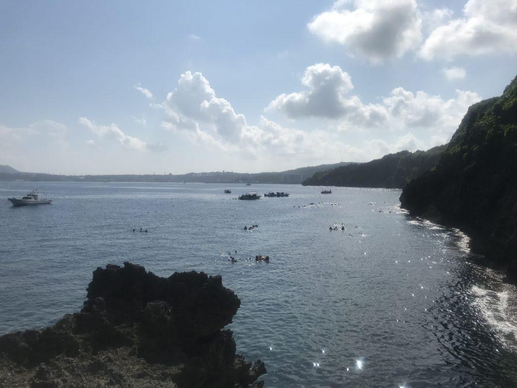 真栄田岬・青の洞窟-潜水-恩納村-国頭郡-沖縄県
