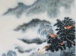 【山居秋暝 唐 · 王維】書・画:王英文-蘭里居士