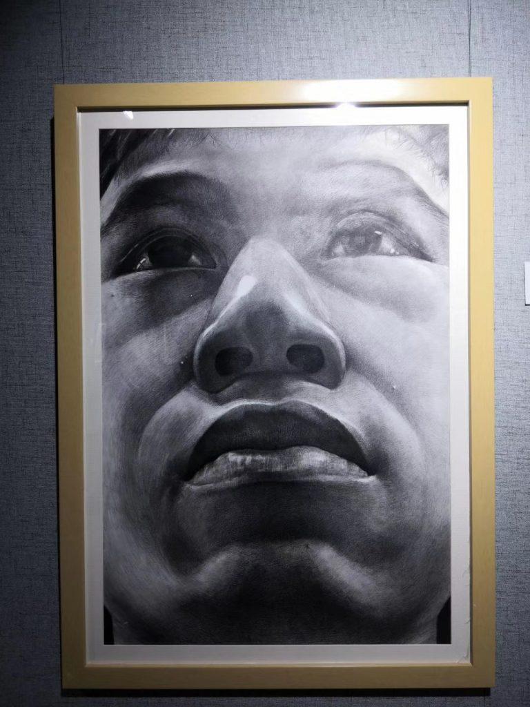 対比度-2017年級油絵スケッチ画作品展-貴州師範大学美術院-撮影:亜君
