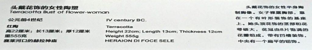 頭戴花飾の女性陶塑1-特別展【彩絵地中海-PAESTUM-一つ古城の文明と幻想】-四川博物院