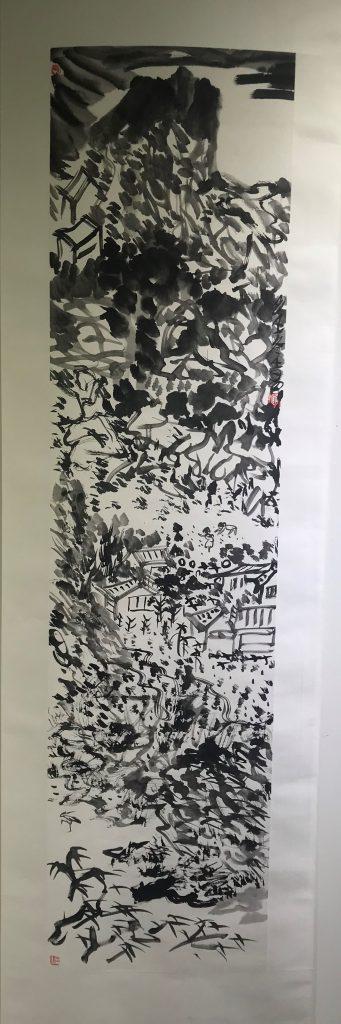 水墨山水-王易-2019成都画廊協会年度国展-詩碑家美術館-琴台路-成都市-四川省