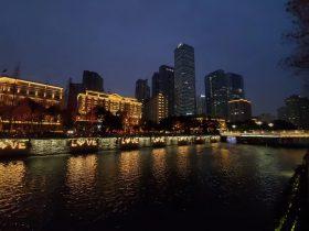 府南河の夜-合江亭・九眼橋周辺-成都市-四川省-撮影:王黎明