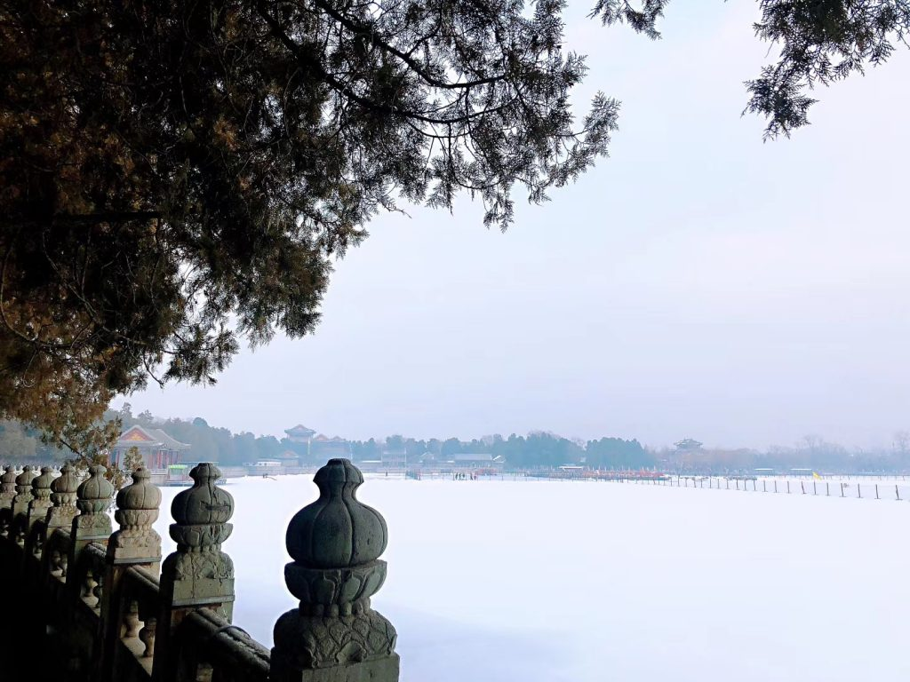 頤和園の冬-清漪園-昆明湖-撮影: 雒三桂