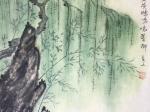 絕句-唐代 · 杜甫-書・画:王英文-蘭裏居士