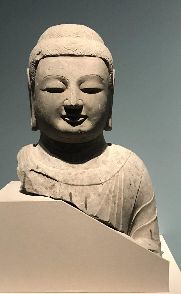 仏頭像-螺紋髻-北周-和韻同光-特別展【映世菩提】成都博物館