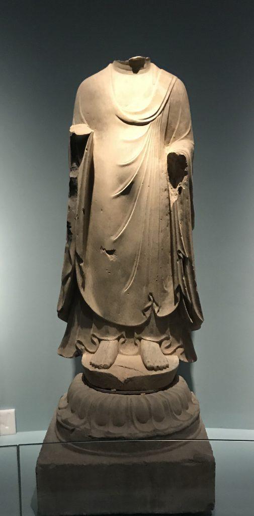 彩絵仏立像-北周-和韻同光-特別展【映世菩提】成都博物館