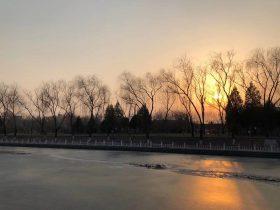 昆玉河の夕焼け-密雲ダム-颐和園-昆明湖-北京-撮影:雒三桂