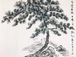 【晚次樂郷県 唐 · 陳子昂】書・画:王英文-蘭裏居士