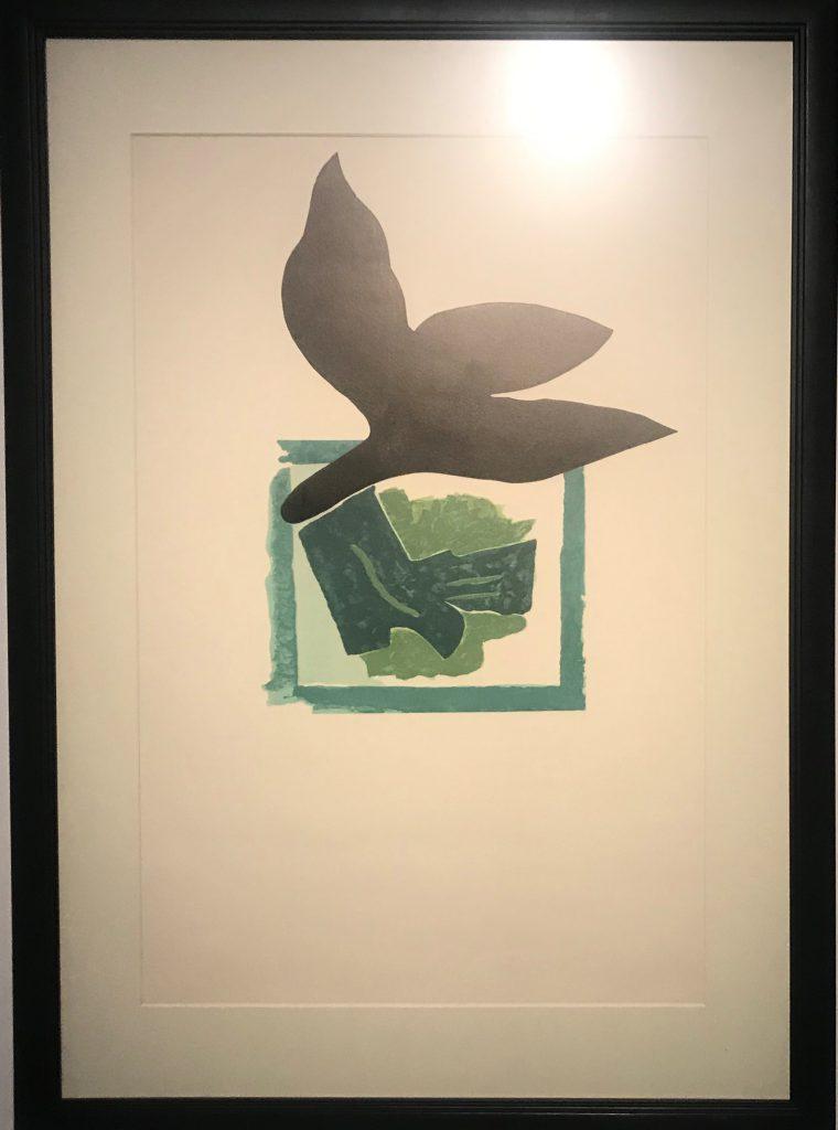 【緑の背景に黒い鳥】ジョルジュ・ブラック-フランス【大師印記:北京大学M・サックラー考古学と芸術博物館蔵版画展】-成都博物館