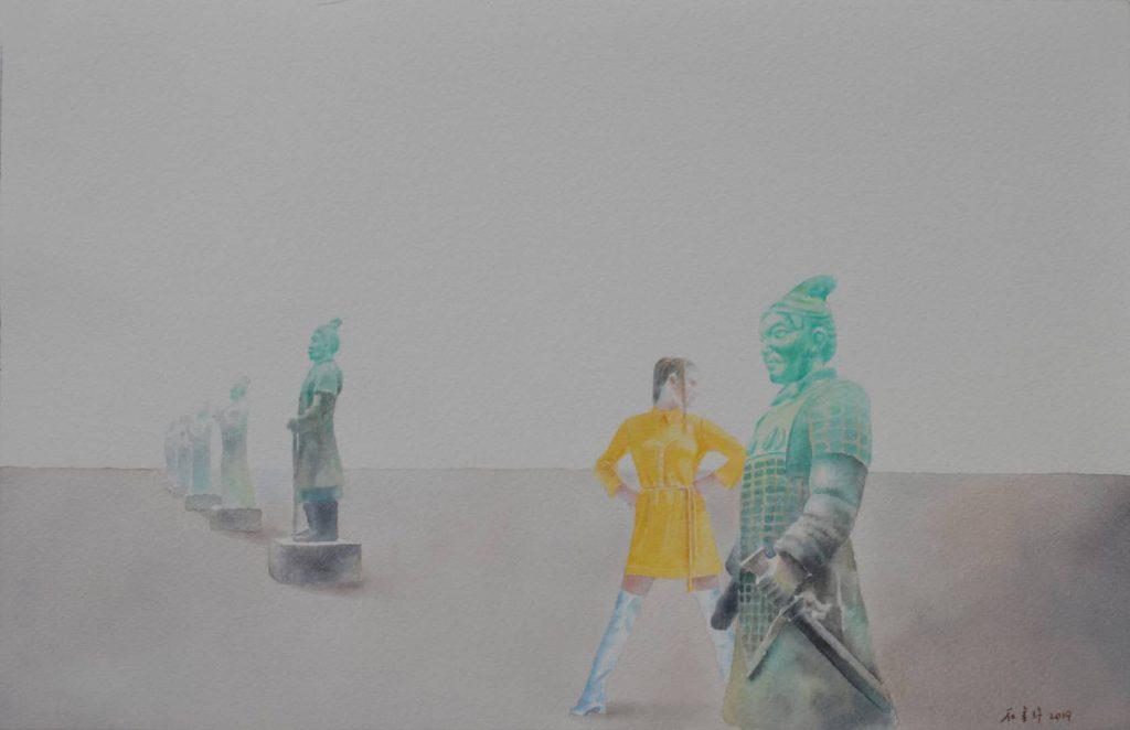 ホーマーのインスピレーション水彩画 23x36cm 2019年