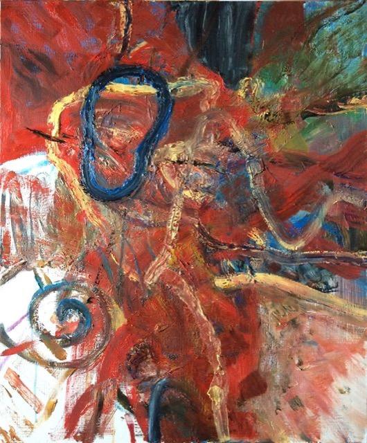 1-Energy ( Ganesha )727×606mm Oil on canvas