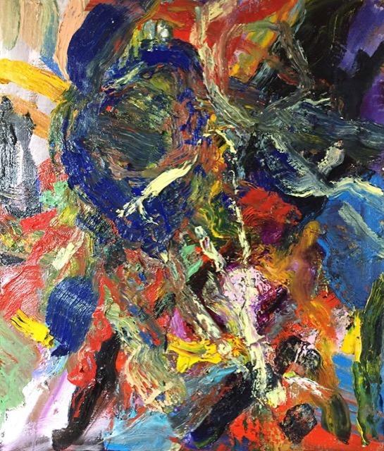 34- Spark 530×455mm Oil on canvas