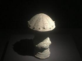 銅蓋紐-二号祭祀坑-総合館-三星堆博物館-広漢市-徳陽市-四川省