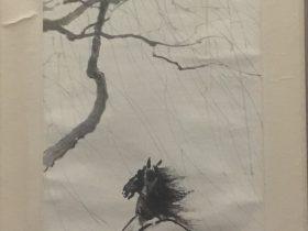 画馬図軸-徐悲鴻-羅文謨-紙本-近現代-書画館-四川博物院-成都
