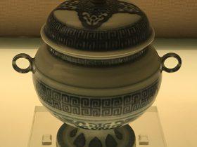 青花回紋双耳豆-清代・雍正-陶瓷館-陶磁館-四川博物院-成都