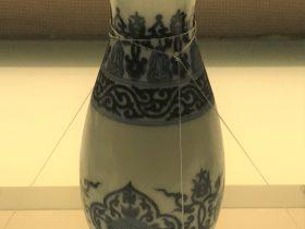 青花勾雲団花紋瓶-清代・乾隆-陶瓷館-陶磁館-四川博物院-成都