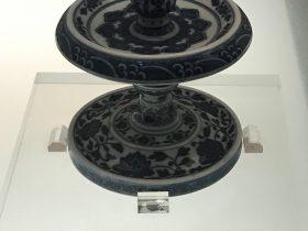 青花纏枝蓮紋燭台-清代・道光-陶瓷館-陶磁館-四川博物院-成都