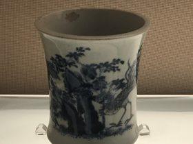 青花釉里紅筆筒-清代・康熙-陶瓷館-陶磁館-四川博物院-成都