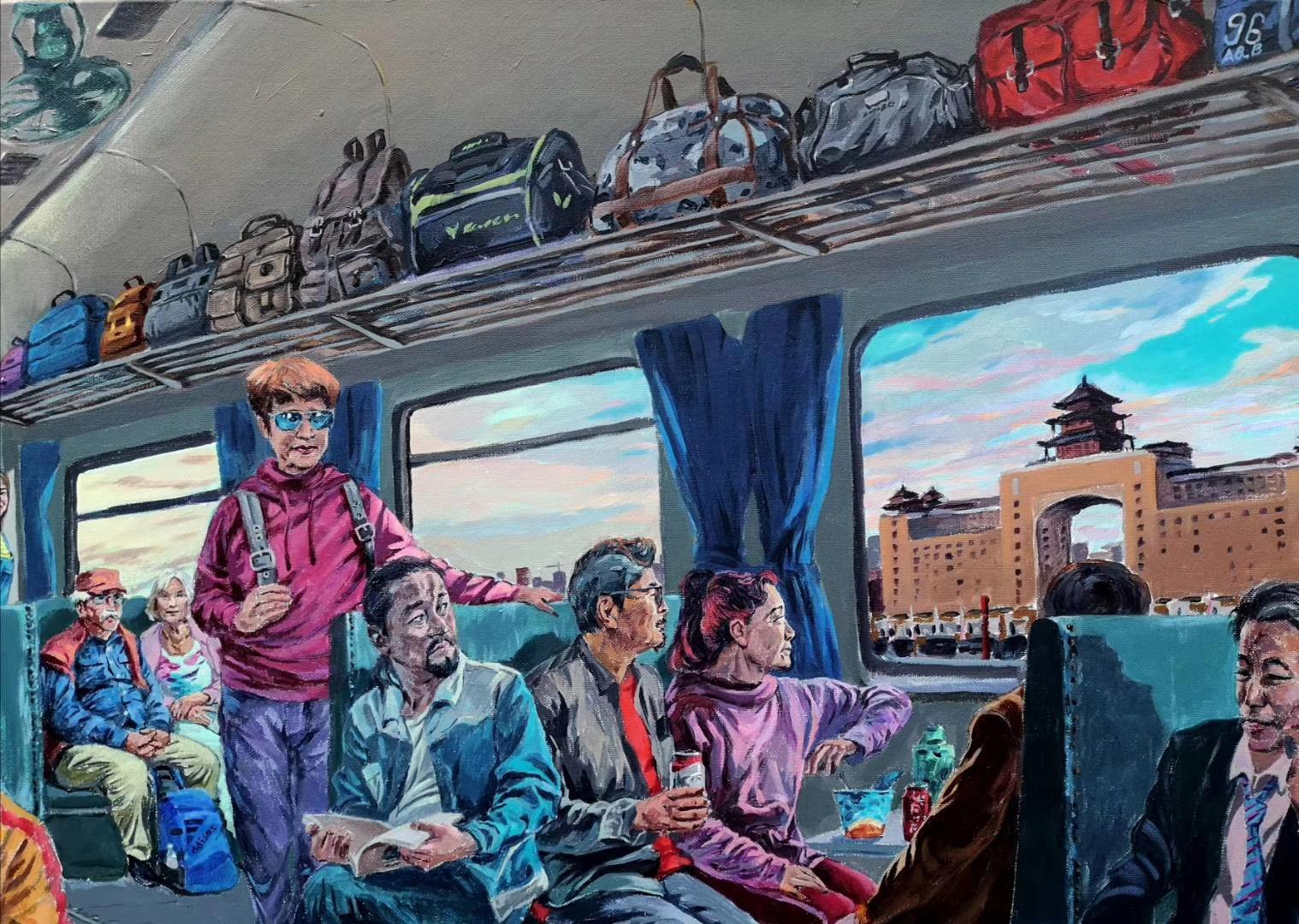 【北京の往事・列車で北京へ来られ-4月23日版】画家:趙斌-第十三回オンライン展示【jin11バーチャルギャラリー】2020年4月
