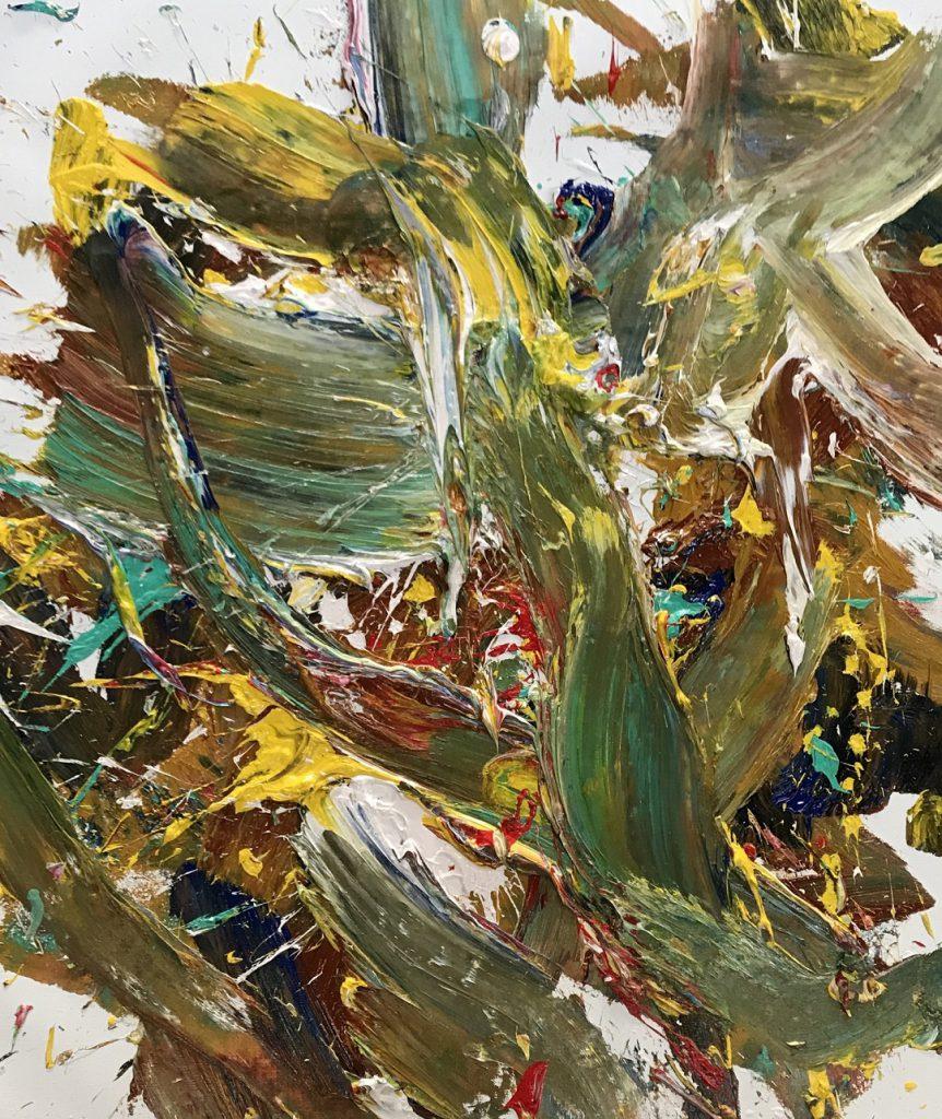 キャンバスに油彩 2020年' サイズ100x120cm