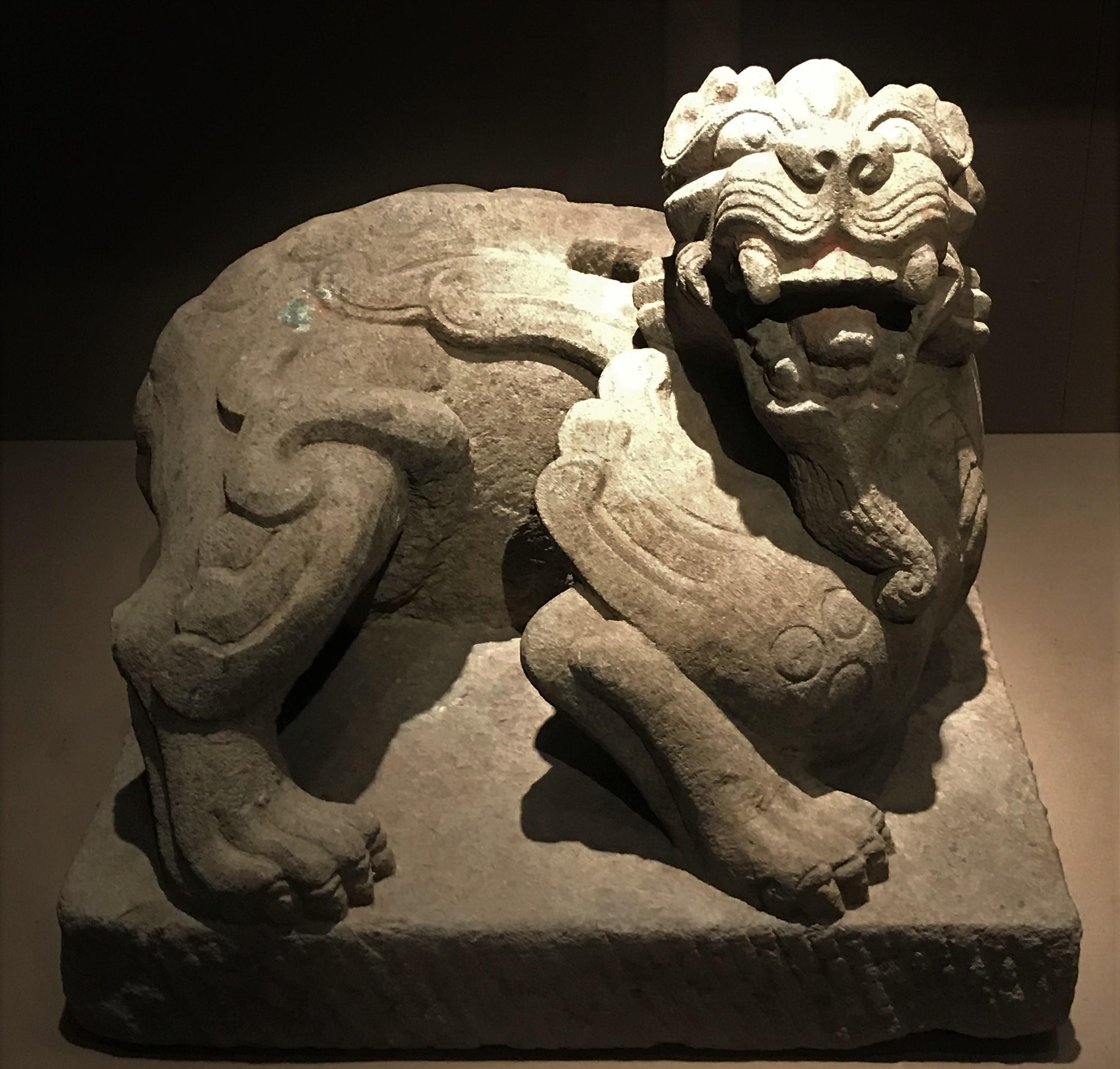 石辟邪座-两漢魏晋南北朝-常設展F2-成都博物館