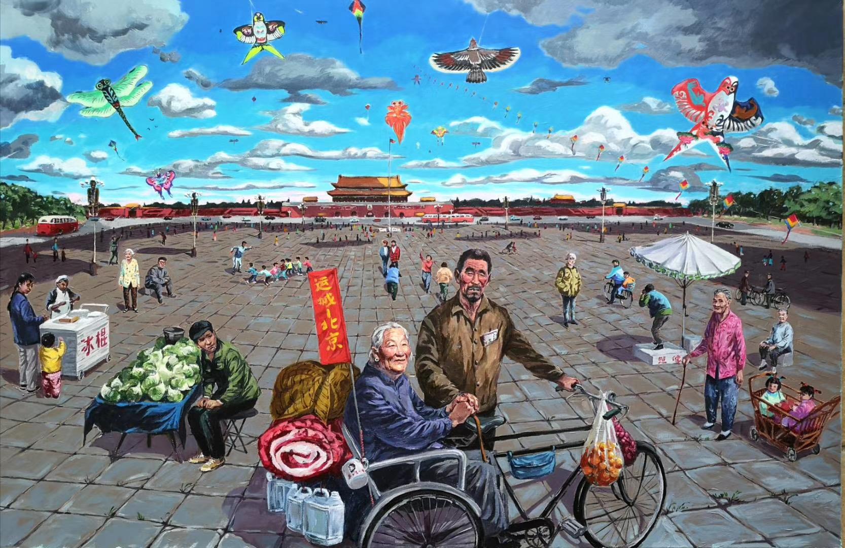 【北京の往事シリーズ】画家:趙斌-第十六回オンライン展示【jin11バーチャルギャラリー】2020年5月