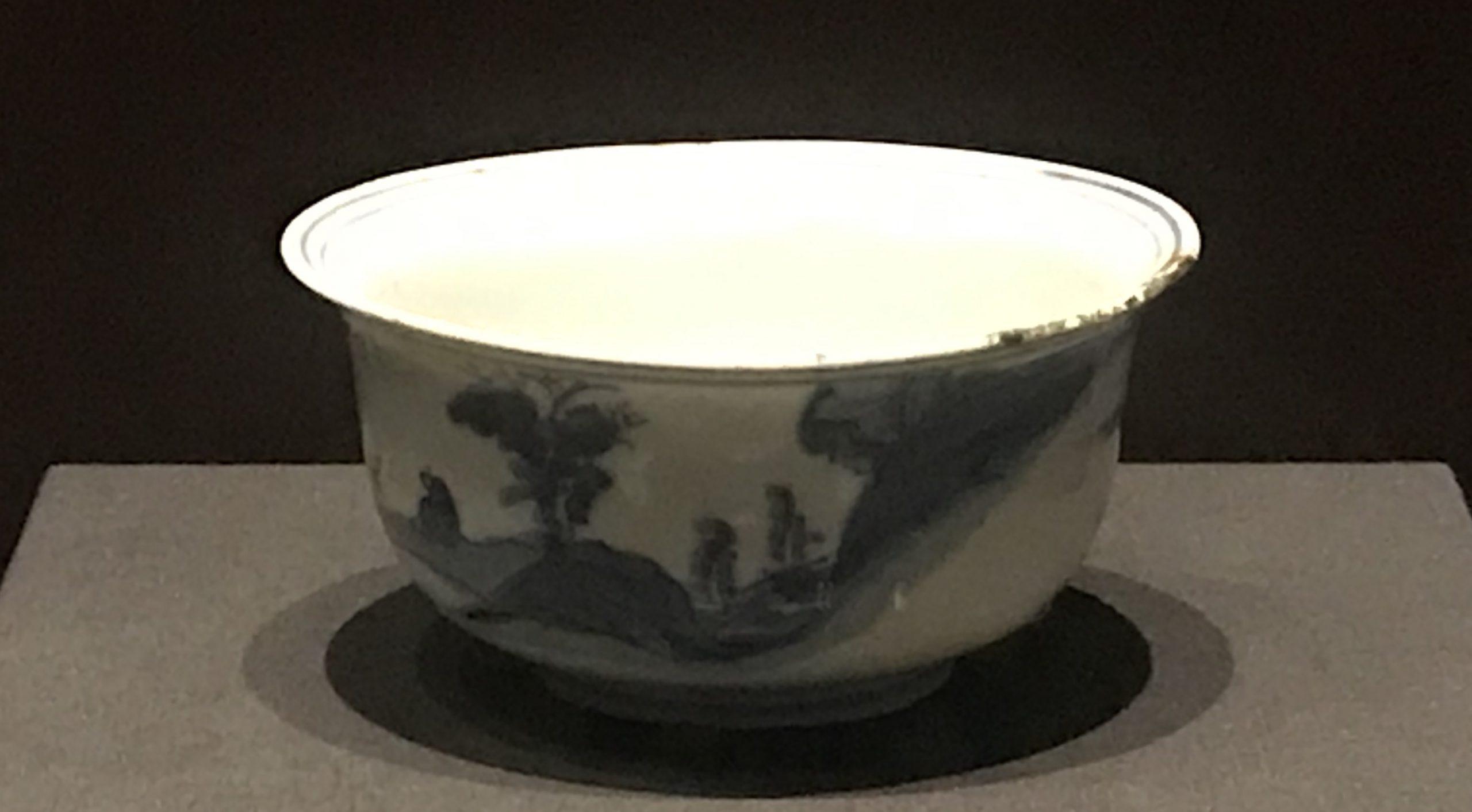 青花山水図磁碗-明清時代-常設展F3-成都博物館